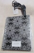 2 NEW  VERA BRADLEY ITEMS in BLANCO BOUQUET  NOTEBOOK & LANYARD   blk/wh