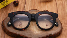 Luxury thick Acetate oversize Eyeglass Frames Women Men Eyewear Glasses Leopard