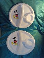 2 Portionsteller Walt Disney® Mickey Mouse® Micky Maus Kunststoff Eagle USA