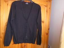 Black V-Neck Hip Longueur Manches Longues Cardigan, JAMES & NICHOLSON, Taille UK 12