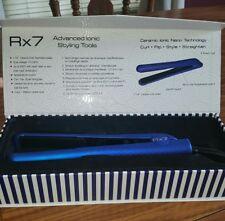 "NIB RX7 HAIR STRAIGHTENER 1 1/4"" IONIC NANO TECH BLUE FLAT IRON MSRP $150"