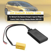 Car Adapter AUX Cable Stereo bluetooth For Renault Clio Kangoo Megane Scenic