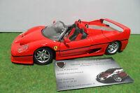 FERRARI F50 Barchetta Cabriolet rouge 1/24 d MAISTO voiture miniature collection