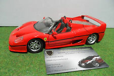 FERRARI F50 Barchetta Cabriolet rouge 1/24 d MAISTO voiture miniature collection