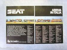 QUATTROR983-PUBBLICITA'/ADVERTISING-1983- SEAT ARRIVA IN ITALIA -2 fogli