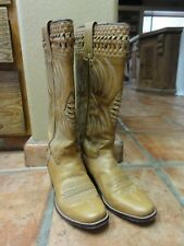Vintage The Baron Dingo Collection Cowgirl Spanish Leather Boots Sz 6-1/2D