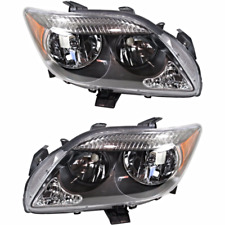 Fits 05-10 Scion tC Left & Right Headlamps w/grey bezel w/o Projection High Beam