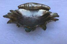 Brass Mid Century Shell Ashtray Soap dish Collectible Patina Curio Dish