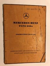 GENUINE MERCEDES-BENZ 220A OWNERS USERS INSTRUCTION HANDBOOK MANUAL 1955