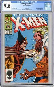 X-Men  #222  CGC   9.6   NM+   White pgs  10/87  Wolverine vs. Sabretooth Marrau