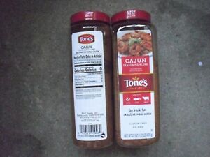 New ! 2 X 22 oz Tones Cajun Seasoning Spices Seafood Food Cooking