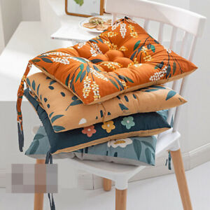Dining Room Garden Breathable Non-Slip Square Cushions Chair Seat Pad Tie On UK