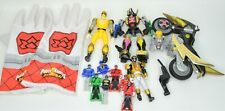 Yellow Power Rangers FIGURE LOT KEY GLOVES KEYS  NINJA STORM