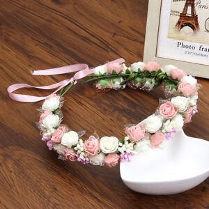 Fashion Womens Double Flower Crown Foam Hairband Garland Headband Wreath Wedding