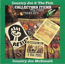 COUNTRY JOE & THE FISH Collectors Items: The First 3 EP's 1994 One Way OOP CD