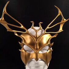 GOLD Mask Greek God Leather Mask TRITON Mardi Gras Masquerade Mask Halloween