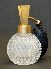 ANTIQUE Vintage MITLEHNER GERMAN CRYSTAL Art Deco GLASS PERFUME ATOMIZER Bottle