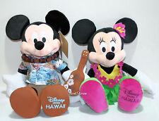 "NEW Disney Store Hawaii EXCLUSIVE 17"" Mickey Mouse Ukulele & Minnie Hula Plush"
