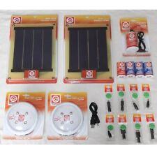 Solar Light Kit - 2 Panels, 2 Rechargeable Lights, USB, Power Pack - Camping etc