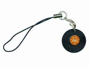 Record Cell Phone Strap Miniblings Op Vinyl Mobile Phone Jewelry Plate Charm Red