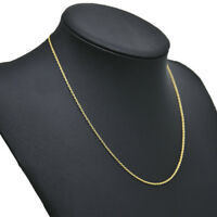 Women Simple Gold Plated Stainless Steel Chain Necklace 45cm Jewelry