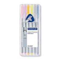 STAEDTLER triplus fineliner 334 SB6CS1 containing 6 Pastel colors SET 0.3 mm