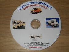 TALBOT EXPRESS MOTORHOME VAN PICK UP INFORMATION REBUILD MANUALS  GUIDES DISC