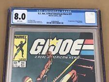 Marvel Comics 1984 GI JOE #21 CGC 8.0 VF WHITE PAGES 1st Print App Storm Shadow
