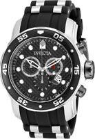 Invicta Men's Pro Diver Chrono 200m Stainless Steel Polyurethane Watch 17879