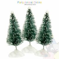 Snowy Bristle Christmas Trees - Cake topper and decorations