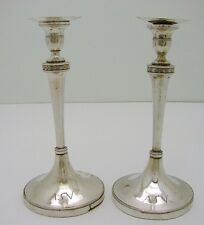 51999c45e4d Set of 2 European Sterling Silver Hallmarked Tapered Candle Stick c1790