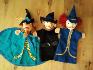 Lot of 3 KERSA Vintage 60's German Hand Puppets