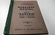 1950s  KARRIER BANTAM  Mk IV Truck Factory Workshop  Manual