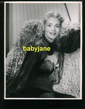 MARIE WILSON VINTAGE 8X10 PHOTO LOVELY IN BLACK LACE NIGHTGOWN DOUBLE WEIGHT