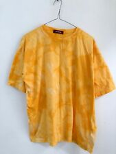Urban Renewal Vintage Bright Yellow Tie Dye Oversized T-Shirt Top