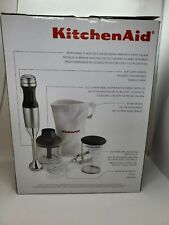 KitchenAid 3-Speed Immersion Hand Blender Silver blend chop With Attachments