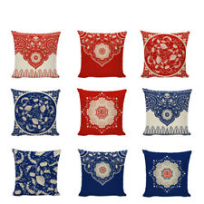 Chinese Style Flowers Garland Decorative Festive Hope Forceful  Cushion Covers