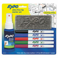 EXPO Low-Odor Dry-Erase Marker Starter Set Ultra Fine Assorted 5/Set 1884310
