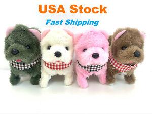 Electronic Plush Puppy, Tiny Ear, Barking Walking Wagging, Moving Pet, Battery