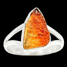 Rare Mexican Fire Opal Rough 925 Silver Ring Jewelry s.9.5 RR67493