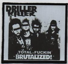 DRILLER KILLER PATCH / SPEED-THRASH-BLACK-DEATH METAL