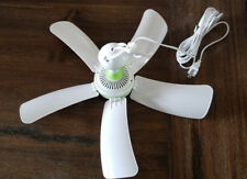 "16.5"" PORTABLE 5 BLADE MINI CEILING FAN EASY TO HANG CORDED PLUG NO HARD WIRING"