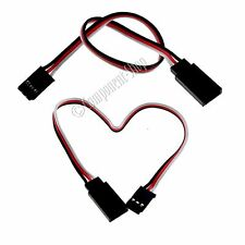2x 100mm Futaba light weight 26awg servo extension leads - UK seller