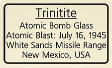 Trinitite Label