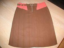 Mooie bruine rok / skirt met ceintuur en roze accenten van InWear NIEUW