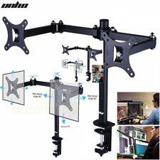 VESA Tisch Halterung Doppel TV PC Monitor Halter 2Fach TFT LCD Bildschirm Halter