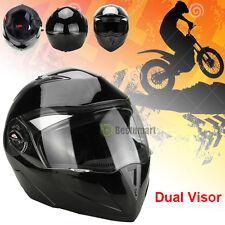 DOT Carbon Fiber Modular Flip Up Dual Visor Full Face Motorcycle Helmet S M L XL