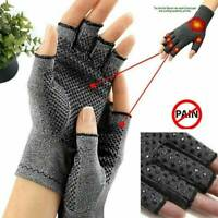 Magnetic Compression Wrist Support Arthritis Gloves Hand Brace Pain Relief UK