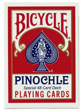 2 Decks Bicycle Pinochle Playing Cards Red 48