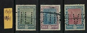 Argentina stamps 1912 sower issue - Mint - Stamps with Perfins sg412/4